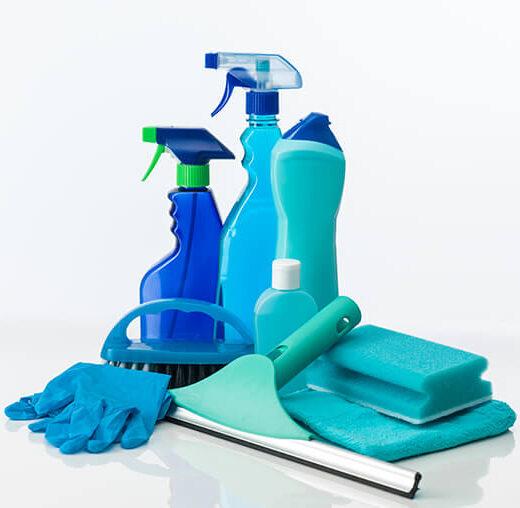 Blått vaskeutstyr